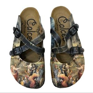 CALCEO Hand Painted Clogs